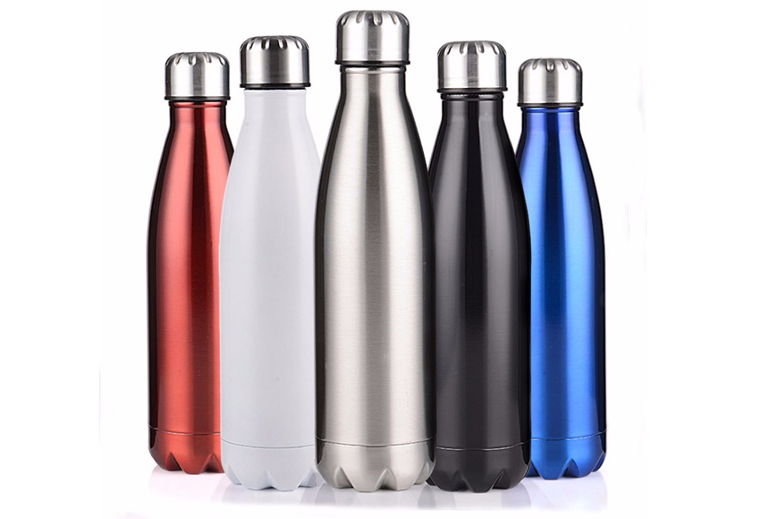 Insulated Double Wall 304 Stainless Steel Vacuum Bottle White/Silver 17oz