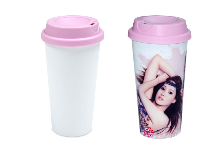 Double Layer Plastic Cup