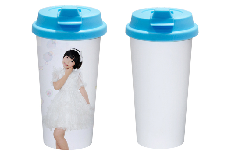 Double Layer Plastic Cup with Flip Cover