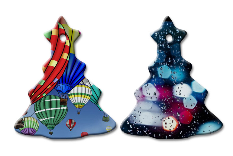 Sublimation Printing Ceramic Pendents for Christmas Tree Decoration