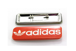 Rectangle Metal Badge 25mm x 70mm